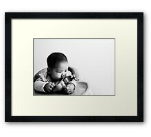 My innocent girl Framed Print