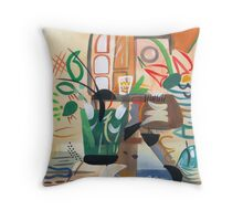 Vintage Interior  Throw Pillow
