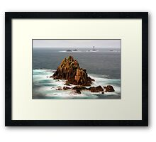 Armed Knight - Lands End, Cornwall Framed Print
