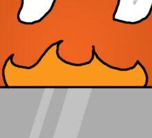 RAIN - Toaster on Fire Sticker