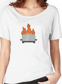 RAIN - Toaster on Fire Women's Relaxed Fit T-Shirt