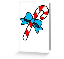 Christmas candy cane - vertical card Greeting Card
