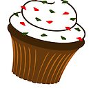 Christmas Cupcake - Vertical card by timageco