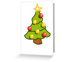 Christmas tree - vertical card Greeting Card