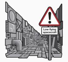 Low Flying Spacecraft - Sticker by DoodleDojo