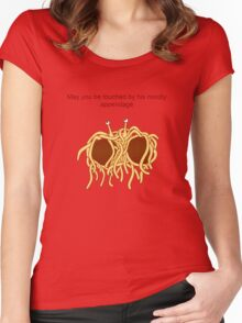 His noodly appendage (light) Women's Fitted Scoop T-Shirt