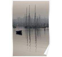Tall Ship Reflections Poster