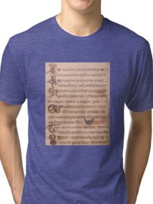 Page from the Book of Kells 2 Tri-blend T-Shirt