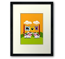 Laundy Cows Framed Print