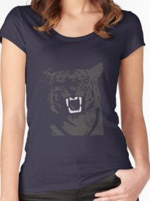 tiger print Women's Fitted Scoop T-Shirt