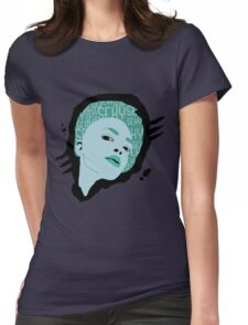 sexy woman green Womens Fitted T-Shirt