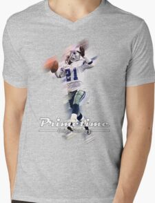 Primetime Deion Sanders Mens V-Neck T-Shirt