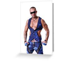 Muscular Male Torso Greeting Card