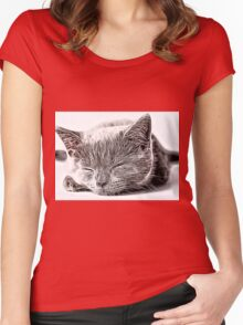 Wild nature - cat #3 Women's Fitted Scoop T-Shirt