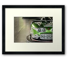 Green - Kiddieland Bumper Car Framed Print