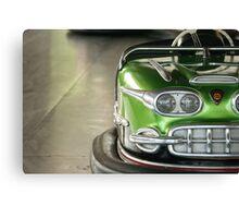Green - Kiddieland Bumper Car Canvas Print