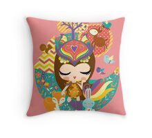 Deep in the forest - Nimi Collection Throw Pillow