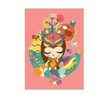Deep in the forest - Nimi Collection Art Print