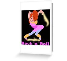 Brittany - Girl of Rock 'n' Roll Greeting Card