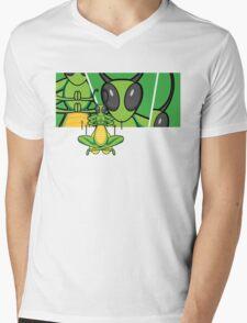 Patient Grasshopper 2 Mens V-Neck T-Shirt