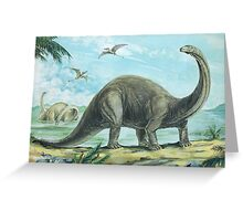 Brontosaurus Greeting Card