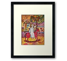 Autumn Angel on the Red Horse Framed Print