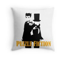 Puzzle Fiction Throw Pillow