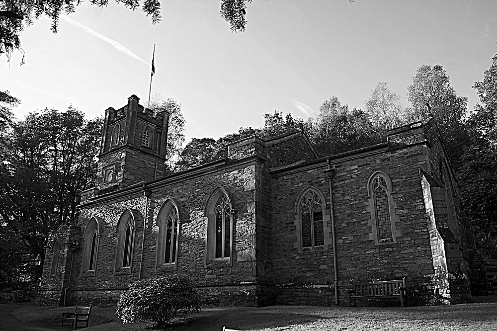 St Mary's Chapel, Rydal. by Lou Wilson