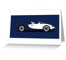 2010 Bugatti Veyron 16.4 Grand Sport Royal Dark Blue Greeting Card