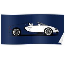2010 Bugatti Veyron 16.4 Grand Sport Royal Dark Blue Poster