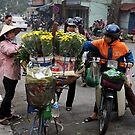 rare peace on the mad roads of Hanoi by geof