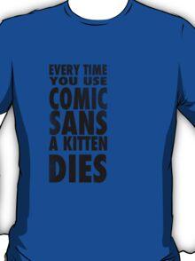 Comic Sans Black T-Shirt