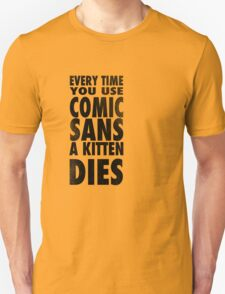 Comic Sans Black T-Shirt