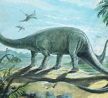 Diplodocus by David Roland