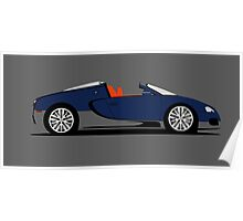 2011 Bugatti Veyron 16.4 Grand Sport Middle East Edition (Blue) Poster