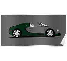 2011 Bugatti Veyron 16.4 Grand Sport Middle East Edition (Green) Poster