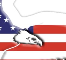 American Flag, Eagle, America, Bald Eagle, USA, Bird of Prey, War Sticker