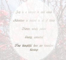 Joy, Adventure, Nature, Energy and Thought by Simplastic