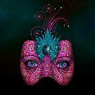 Masked IPad Case by Elizabeth Burton