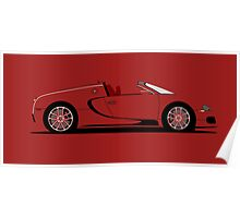 2011 Bugatti Veyron 16.4 Grand Sport Red Edition Poster