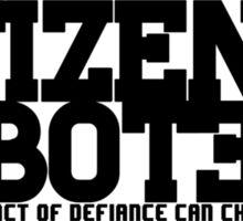 Citizen Saboteur 2 Sticker
