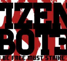 Citizen Saboteur 3 Sticker