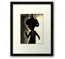 Zombie Doll in Tux Framed Print