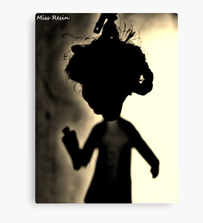 Zombie Doll in Tux Canvas Print