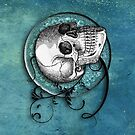 Beautiful Bones IPad Case by Elizabeth Burton