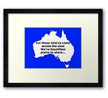 Boundless plains to share! Framed Print