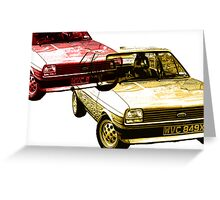 Fiesta 1.1 L red & gold Greeting Card