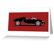 2012 Bugatti Veyron 16.4 Grand Sport Vitesse Black and Red Greeting Card