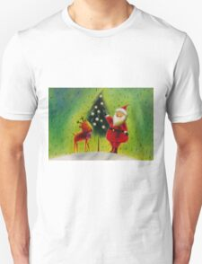 Santa and his Reindeer Unisex T-Shirt