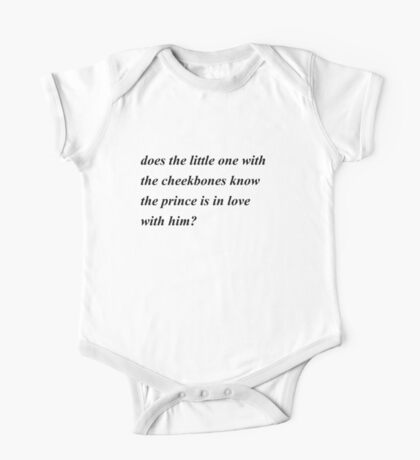 larry quote One Piece - Short Sleeve